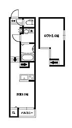 ノースヒル[2階]の間取り