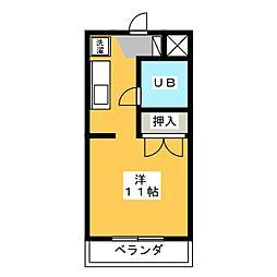 プチメゾン山田[4階]の間取り
