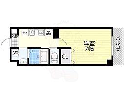 阪急京都本線 正雀駅 徒歩3分の賃貸マンション 4階1Kの間取り