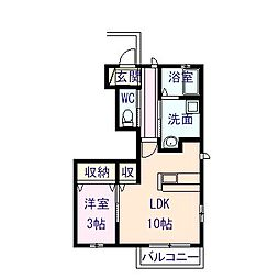 箱森町ハイツ D棟(仮)[102号室]の間取り