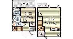 南海線 諏訪ノ森駅 徒歩6分の賃貸アパート 1階1LDKの間取り