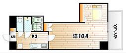 福岡県北九州市小倉北区堺町2丁目の賃貸マンションの間取り