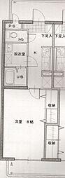 長野県松本市大字水汲の賃貸マンションの間取り