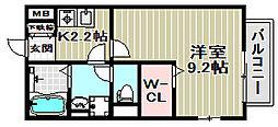 メゾンドールKASA[2階]の間取り