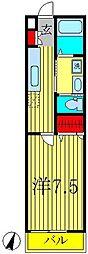 ヒューマンパレス柏III[3階]の間取り