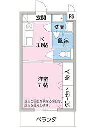 アンペルールkei[1階]の間取り