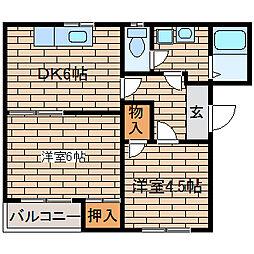 兵庫県神戸市須磨区大田町6丁目の賃貸マンションの間取り