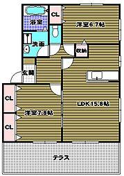 リビングタウン狭山池棟[1階]の間取り