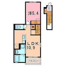 仮)安城市和泉町アパート[201号室]の間取り