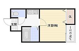ツインコート平野1番館2番館[7階]の間取り