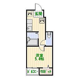 東京都足立区青井4丁目の賃貸アパートの間取り