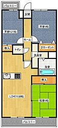 昭和コンフォルト前原[6階]の間取り