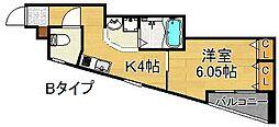 グリッター住之江[3階]の間取り