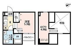 Haro Sakura[1階]の間取り