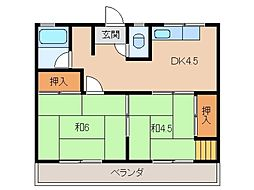 東方住宅[2階]の間取り