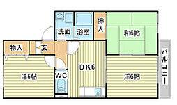 メゾン高須[1階]の間取り