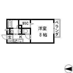 プラサート小阪[202号室号室]の間取り