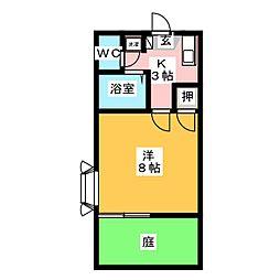 フロラシオン六合[1階]の間取り