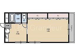第一有隣マンション[3階]の間取り