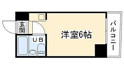 大阪府大阪市西区九条南1丁目の賃貸マンションの間取り