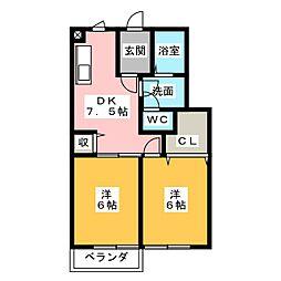 WISTERIA下垂木[2階]の間取り
