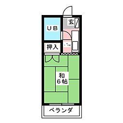 キャッスルU[4階]の間取り