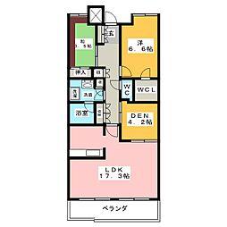 レザンドール東山元町[5階]の間取り