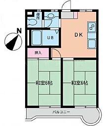 エクセルマンション宮元町[4階]の間取り