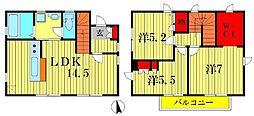 [一戸建] 千葉県柏市大室3丁目 の賃貸【/】の間取り