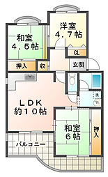 シティハイツ竹の台[1階]の間取り