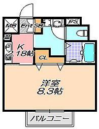 兵庫県神戸市灘区八幡町4丁目の賃貸マンションの間取り