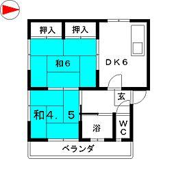 第2千早ビル[3階]の間取り