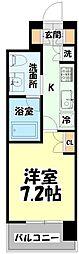 仙台市営南北線 北四番丁駅 徒歩10分の賃貸マンション 2階1Kの間取り