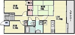 祇園西原パークホームズ[2階]の間取り