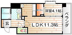 ラ・アヴェニール[3階]の間取り