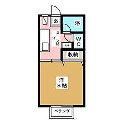 パーシモン参番館[1階]の間取り