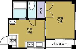 浪華園ハイツ[3階]の間取り