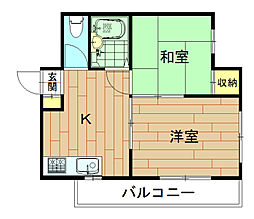 神奈川県川崎市中原区上小田中2丁目の賃貸マンションの間取り