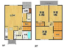 [テラスハウス] 兵庫県伊丹市中野北3丁目 の賃貸【/】の間取り