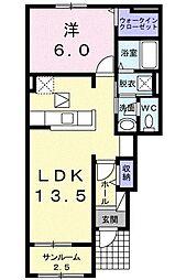 セレノ カーサII[0102号室]の間取り