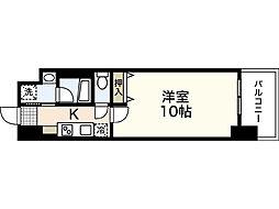 JR山陽本線 広島駅 徒歩20分の賃貸マンション 15階1Kの間取り