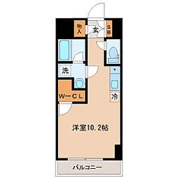仙台市営南北線 勾当台公園駅 徒歩3分の賃貸マンション 7階ワンルームの間取り