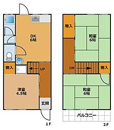 [タウンハウス] 兵庫県神戸市須磨区北町3丁目 の賃貸【/】の間取り