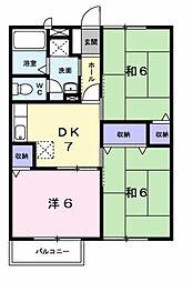 千葉県市原市五井西4丁目の賃貸アパートの間取り