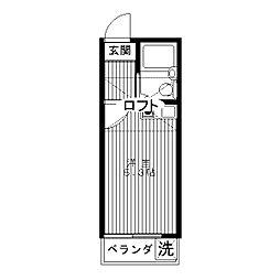 富士コーポ[0202号室]の間取り