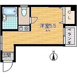 ビルシャナ上田[206号室号室]の間取り