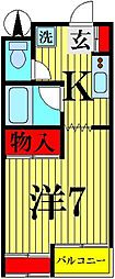 エクセル西新井[205号室]の間取り