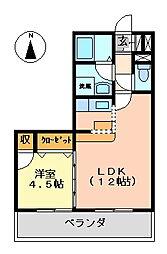 K's2002[206号室号室]の間取り