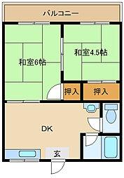 [テラスハウス] 兵庫県尼崎市田能3丁目 の賃貸【兵庫県 / 尼崎市】の間取り