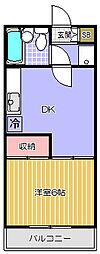 フラット品川[5階]の間取り